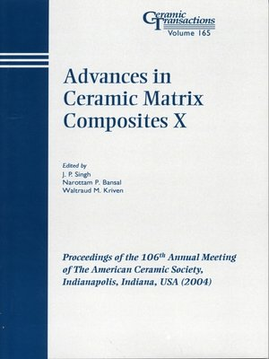 cover image of Advances in Ceramic Matrix Composites X